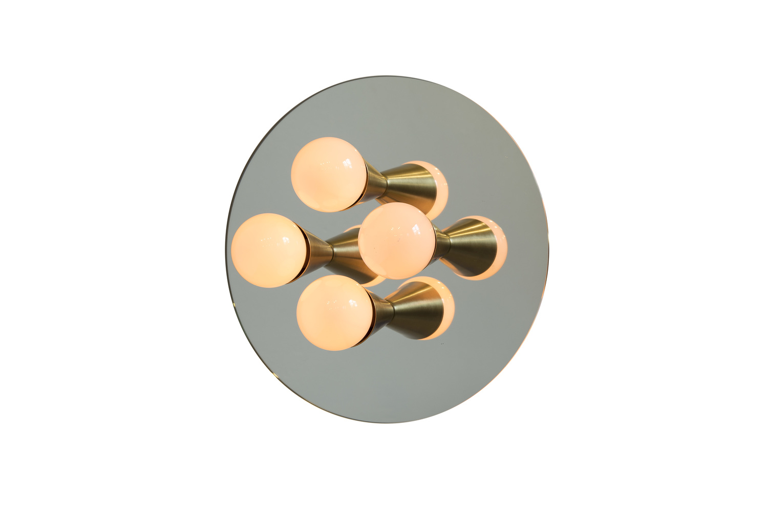 1 echo 4 brass modern mirrored sconce surface flush mount light fixture