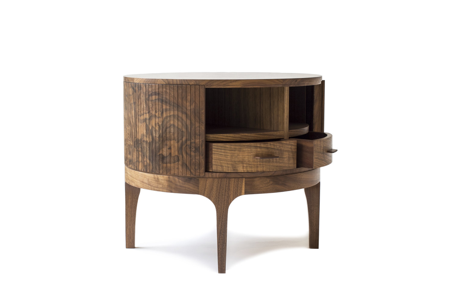 Tambour side table 2