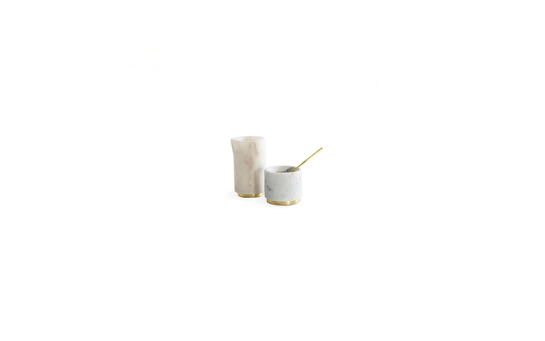 Mara brass sugar pinch pot creamer