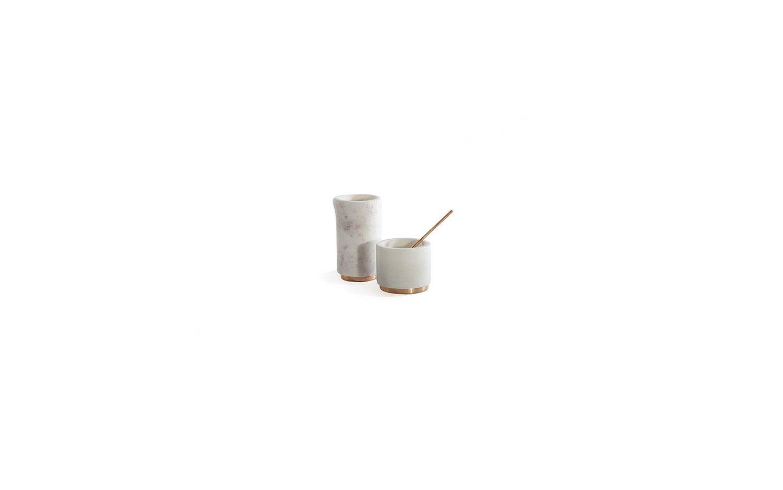 Mara copper sugar pinch pot creamer