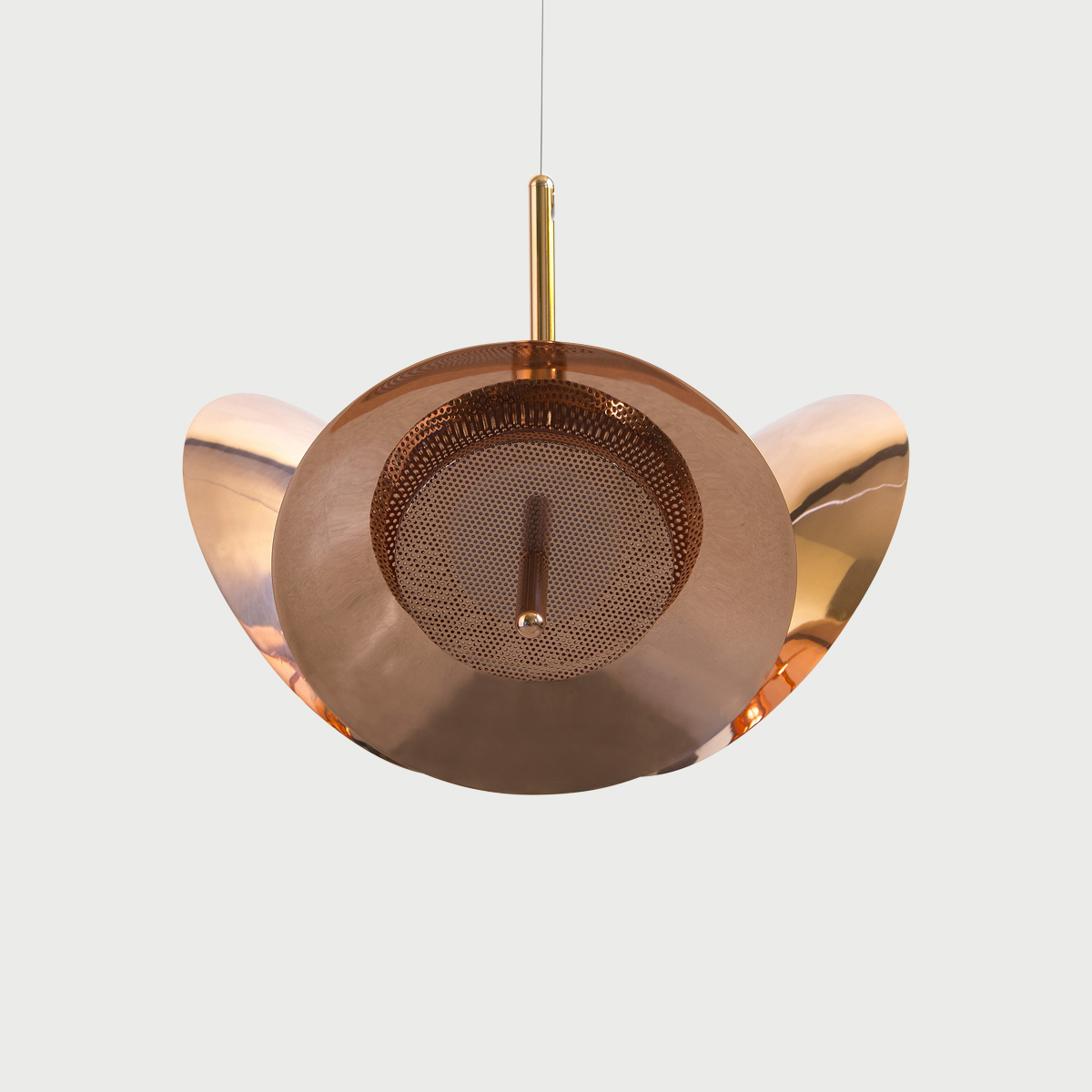 3 copper signal chandelier 3 modern lighting