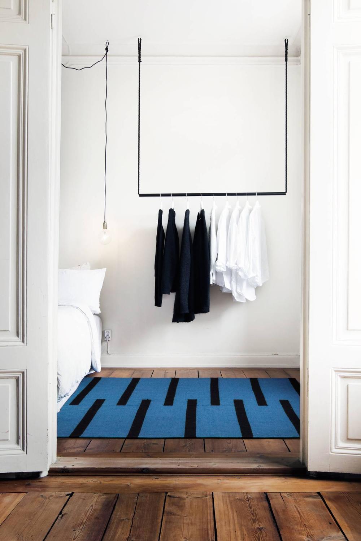 Scandinavian rug nordic knots tiger blue 24