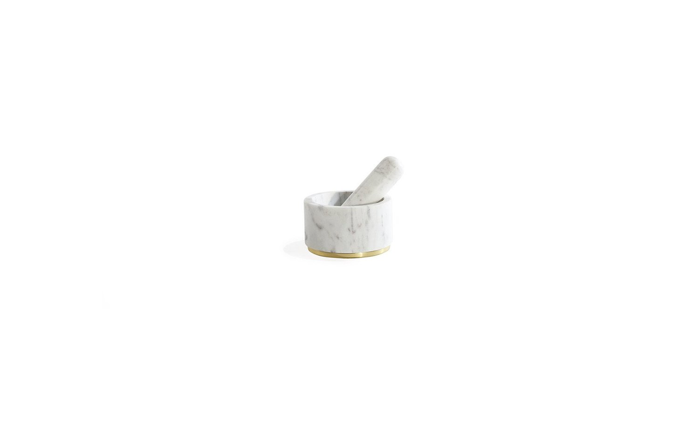 Mara brass mortar pestle in