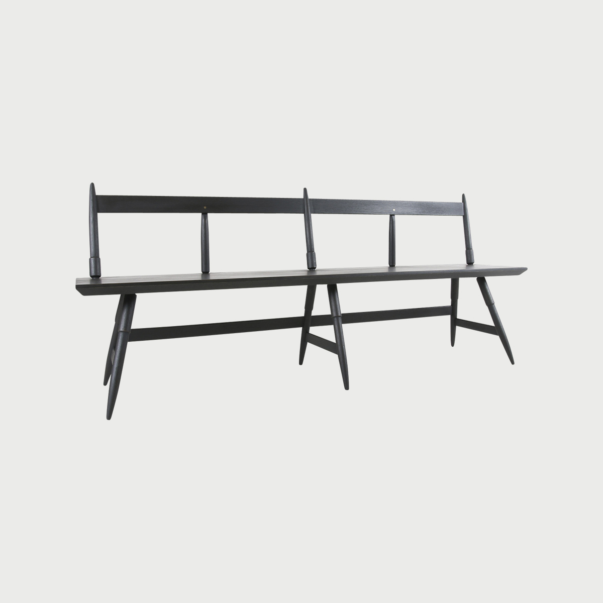 Rockport bench 80 seasoned black front view studio dunn