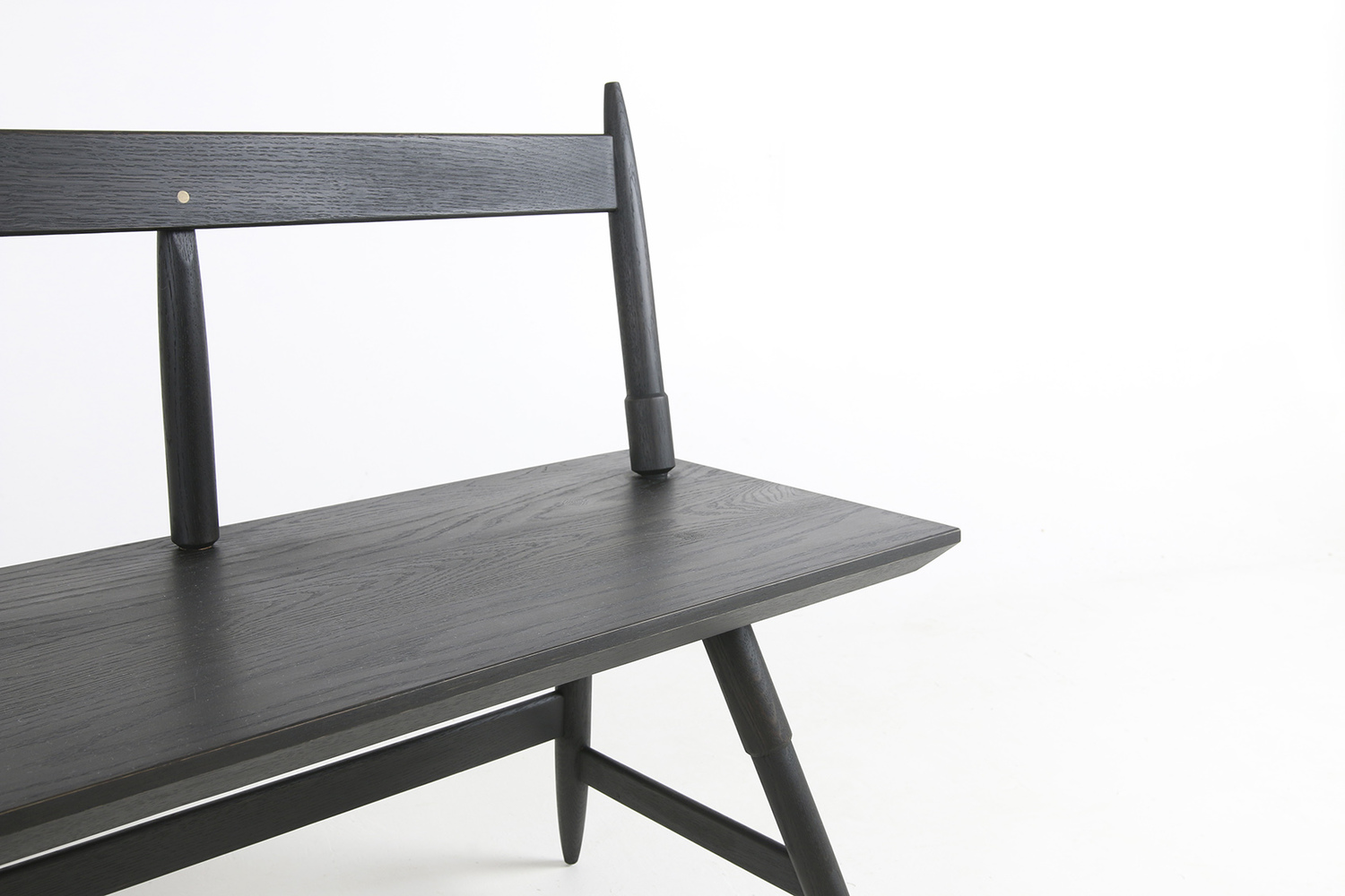 Rockport bench 80 inch with seasoned black detail shot studio dunn