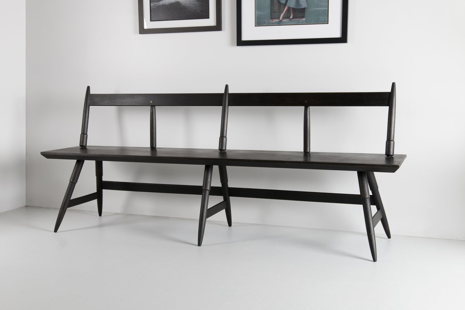 Rockport bench with pictures above at angle studio dunn