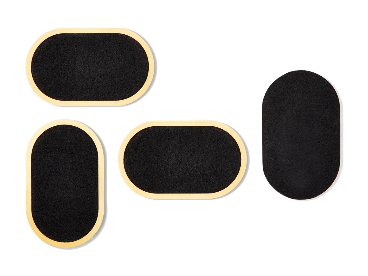 Pure black rubber coasters