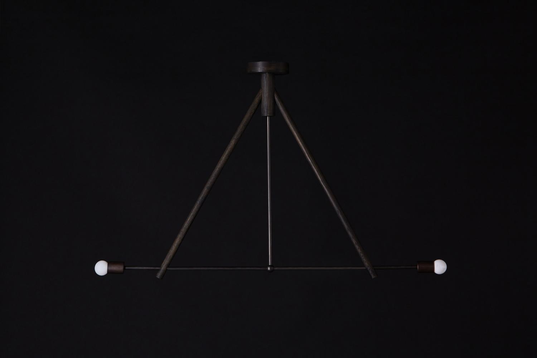 Lodge chandelier two oxidized oak black 1