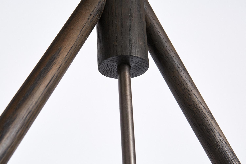 Chandelier two oxidized oak detail 3