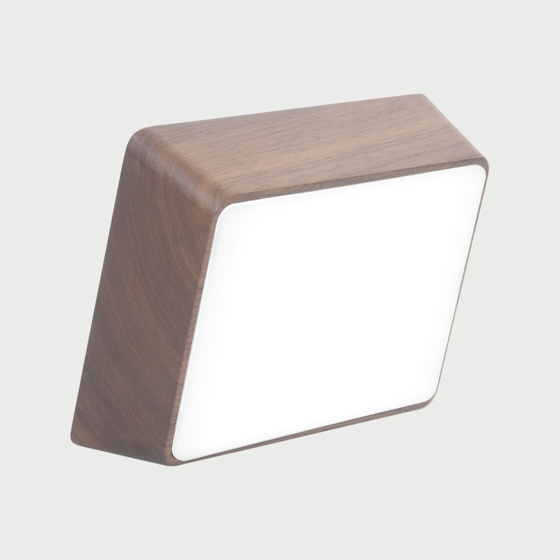 Brick lamp walnut 01