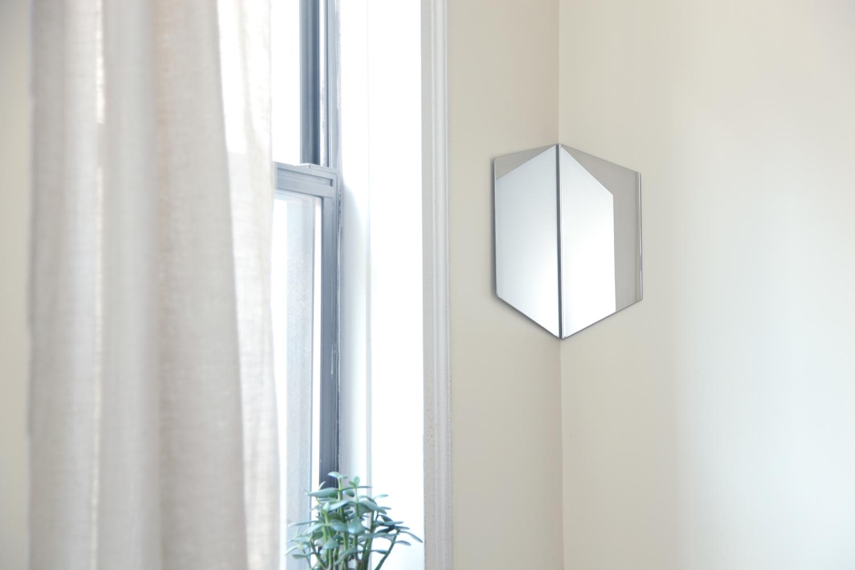 Hex mirror 02 silver