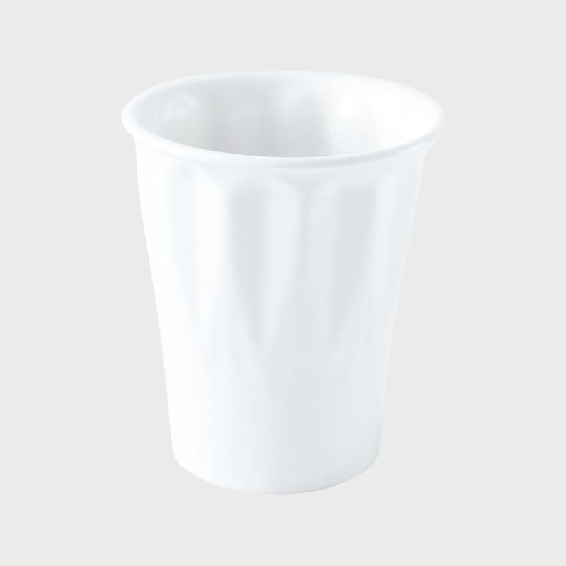 Porcelain facet cup