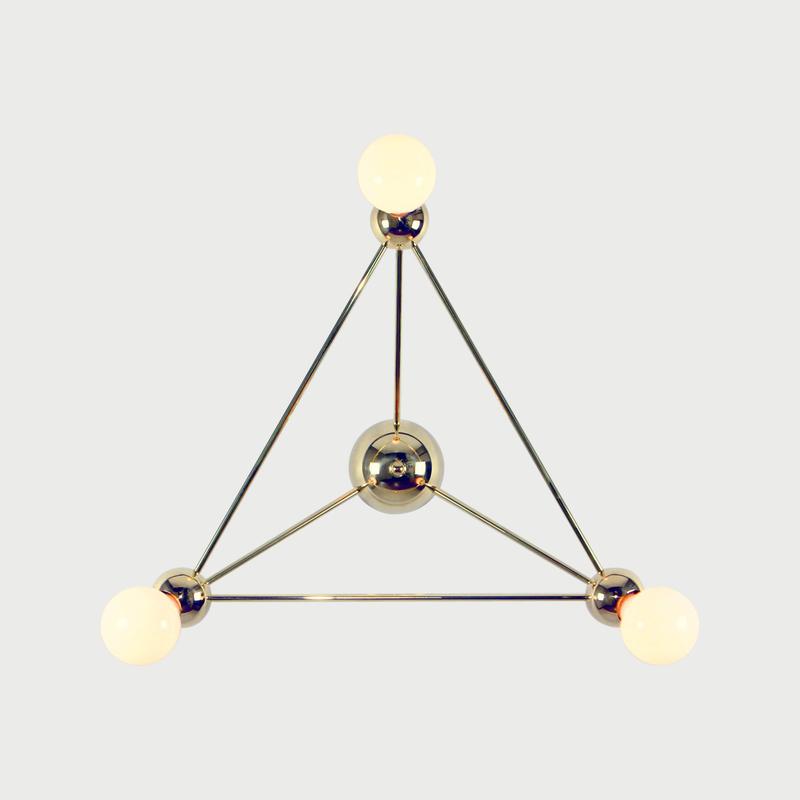 Rosielistudio lina 03 triangle flushmount polishedbrass 01