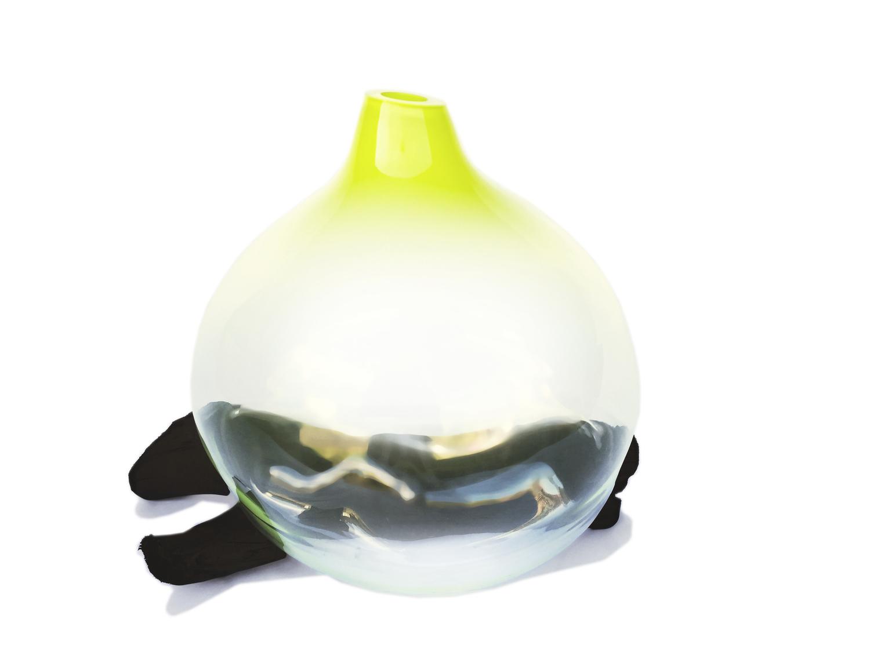 Drift vase chartruese