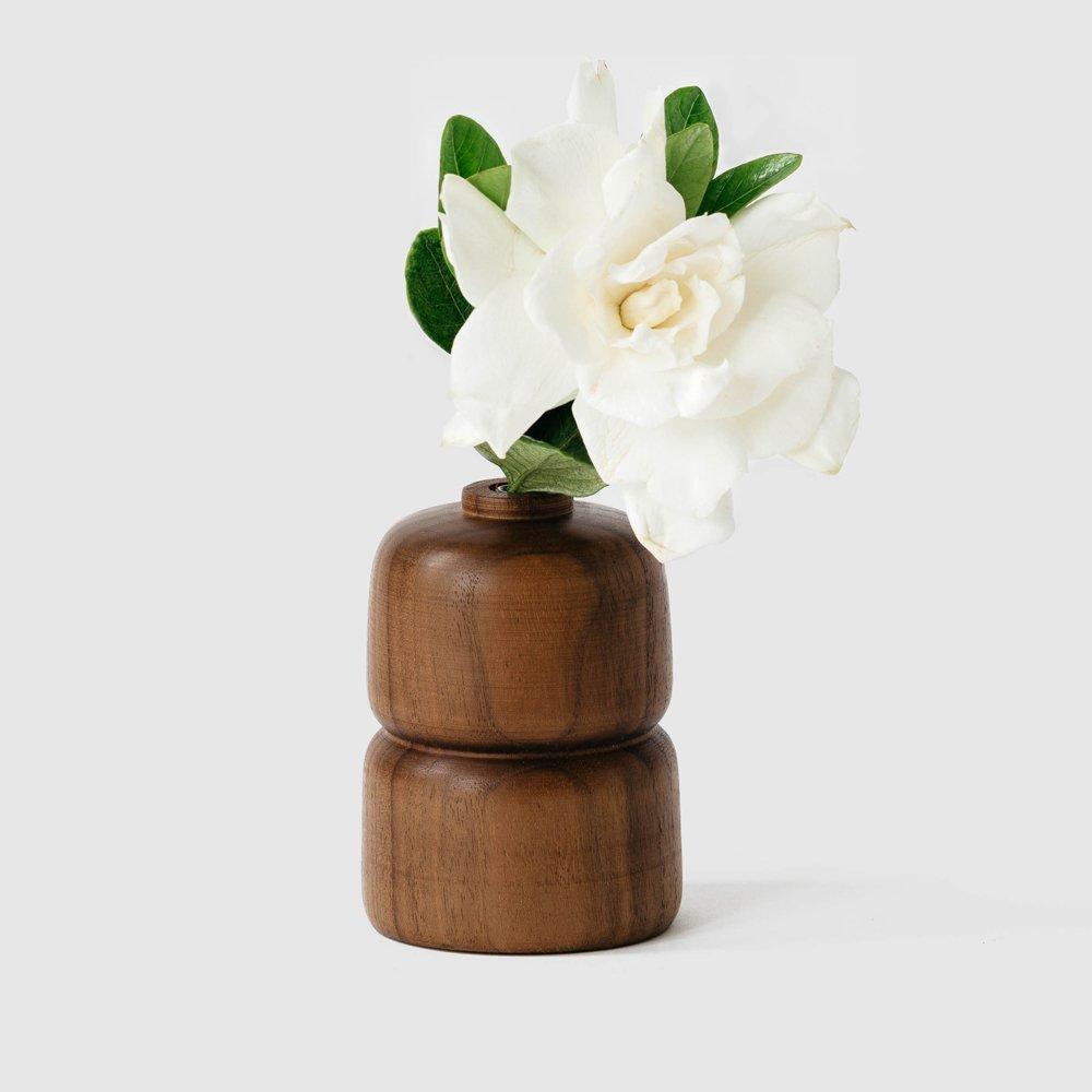 Wood vase  sq 3  281 29