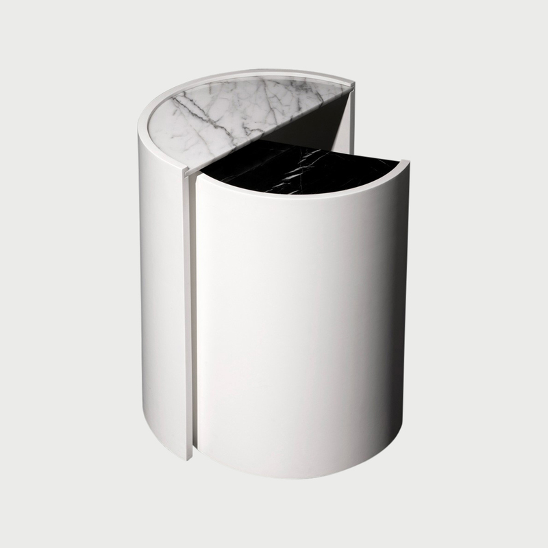 Marble contour side tables