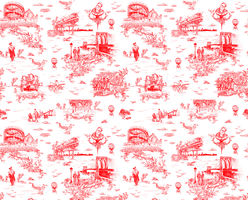 Brooklyn toile diamond red.product