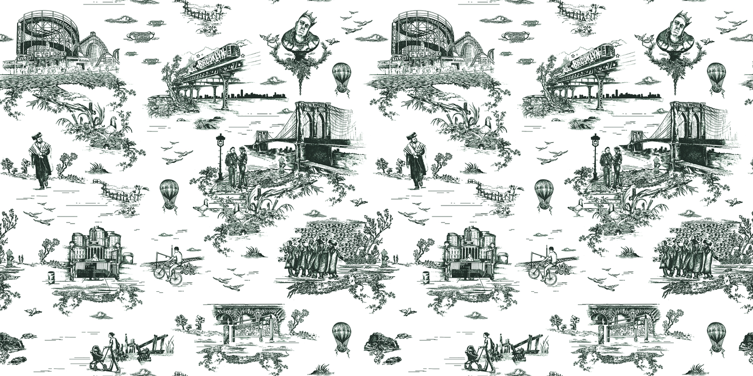 Brooklyn toile black and white.product