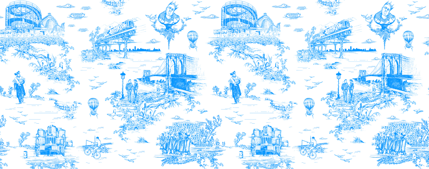Brooklyn toile porcelain blue press image.product