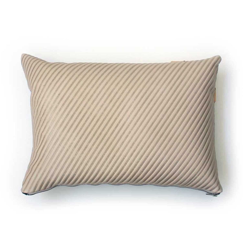 Avo hairline stripe emboss pillow 13x20 bone