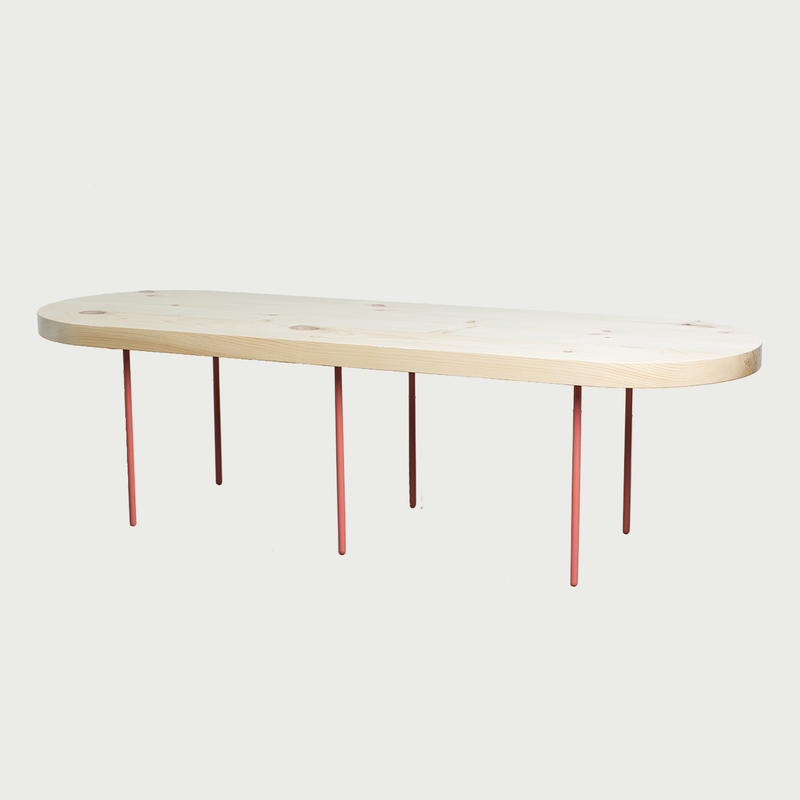 Salmon pine table