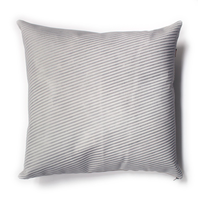 Avo hairline stripe emboss pillow 22x22 cement grey