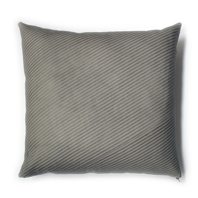 Avo hairline stripe emboss pillow 22x22 grey