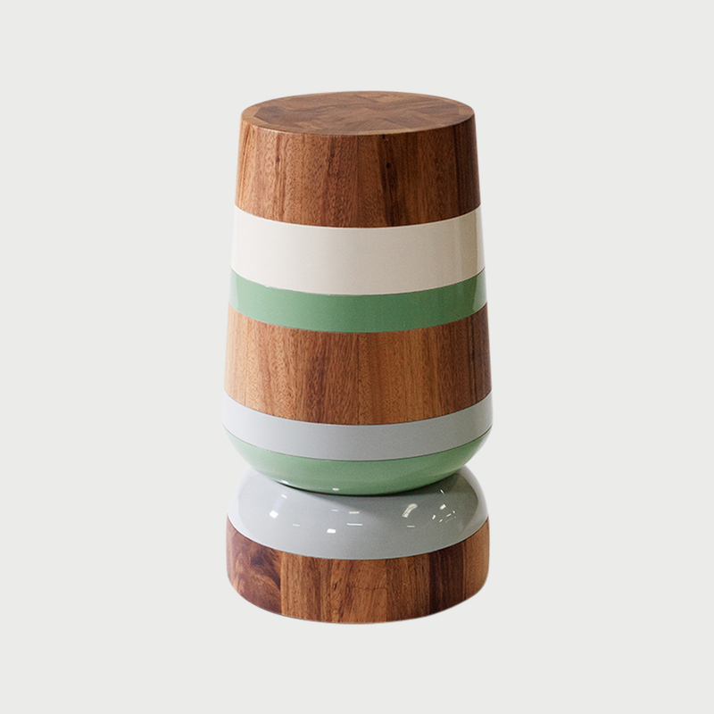 Capirucho side table stripes