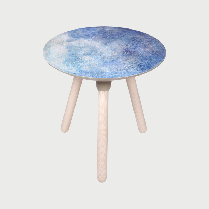 Moon side table blue