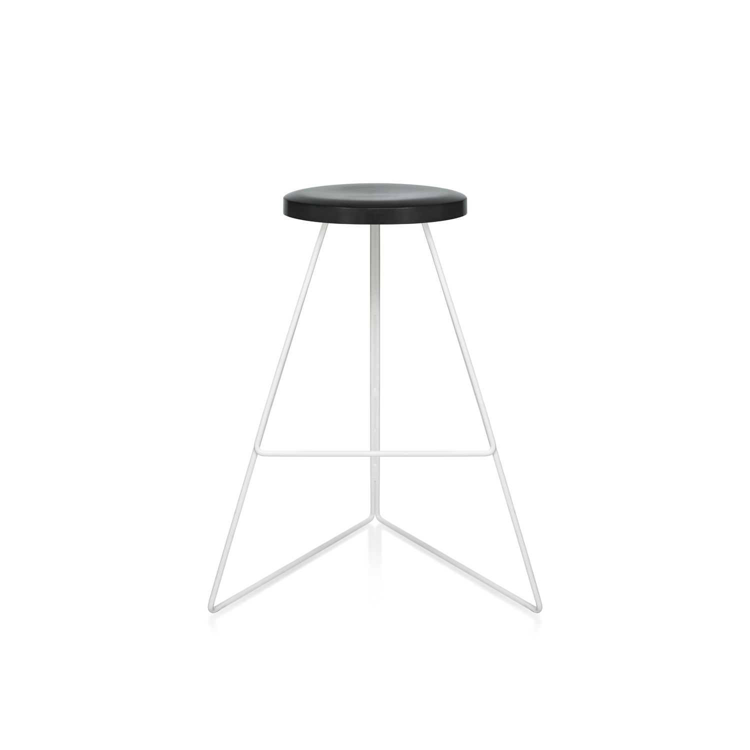 Charcoal seat white base front