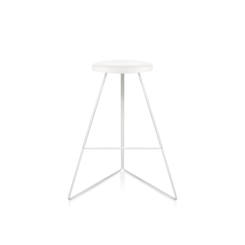 White marble seat white base front