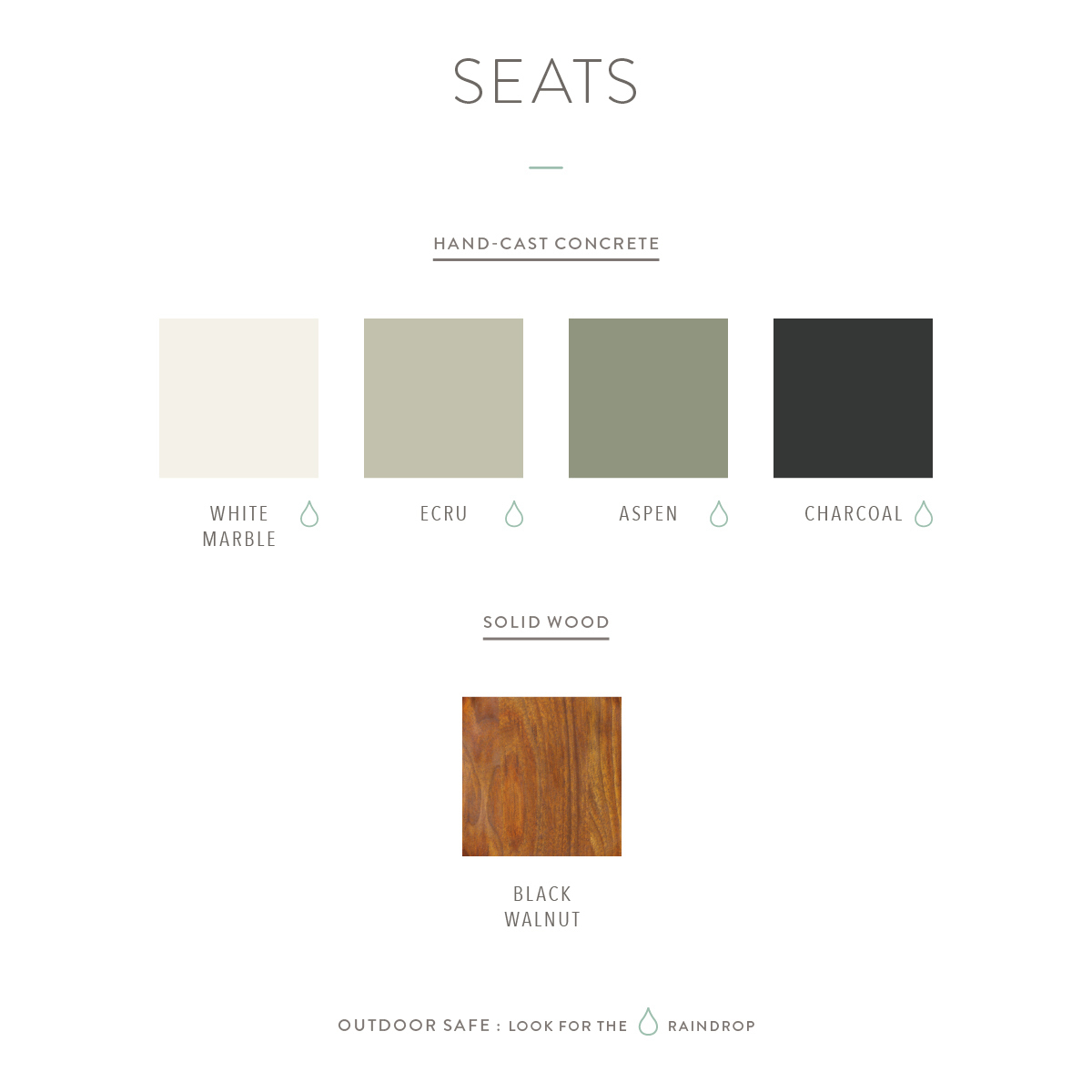Coleman seat swatches