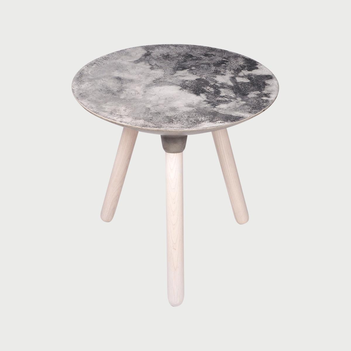 Moon side table light grey