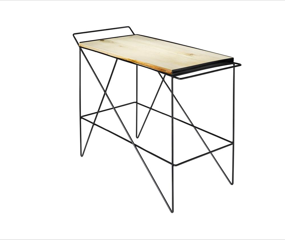 Greta de parry coleman bar cart bleached oak isometric