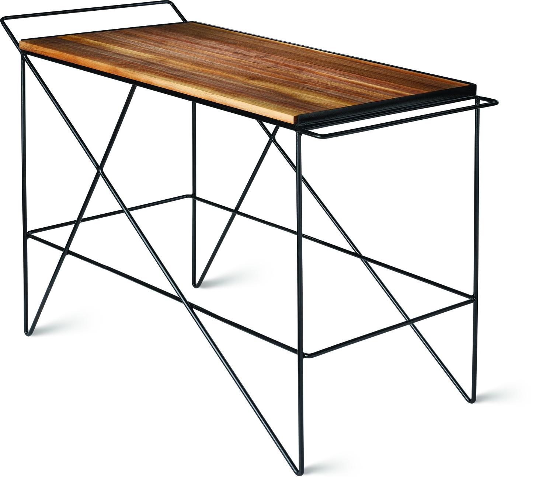Greta de parry coleman bar cart walnut isometric