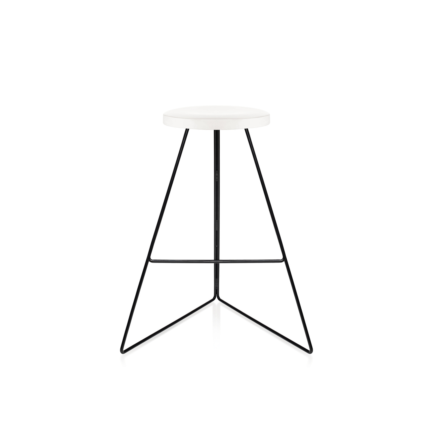 White marble seat black base front