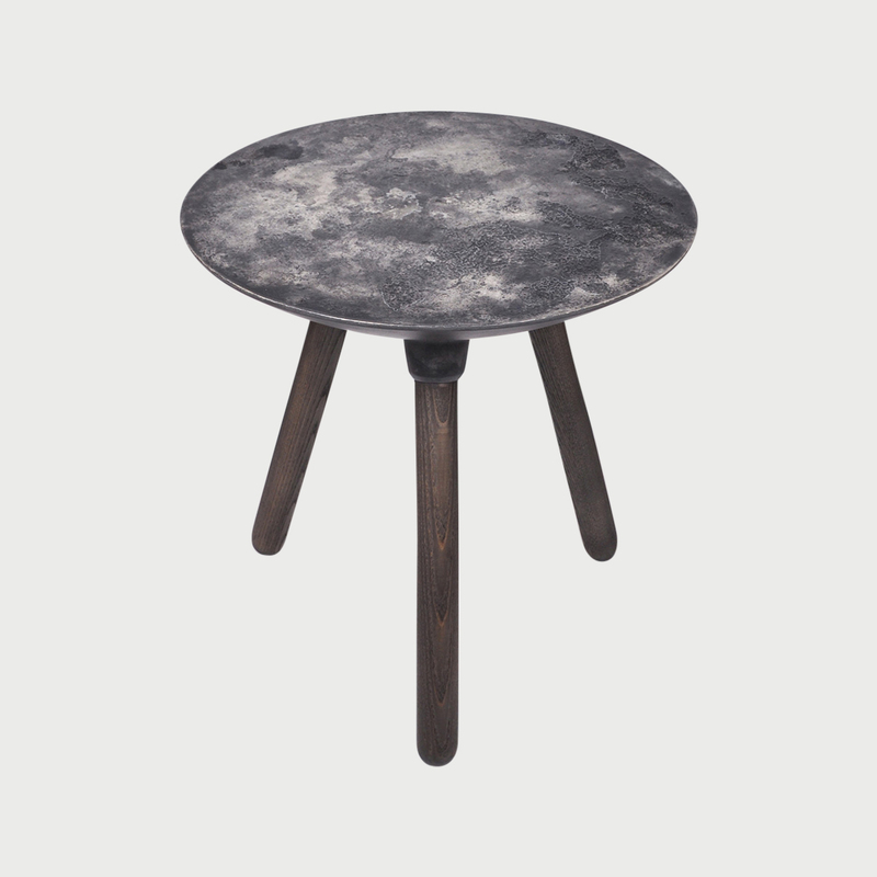Moon side table dark grey