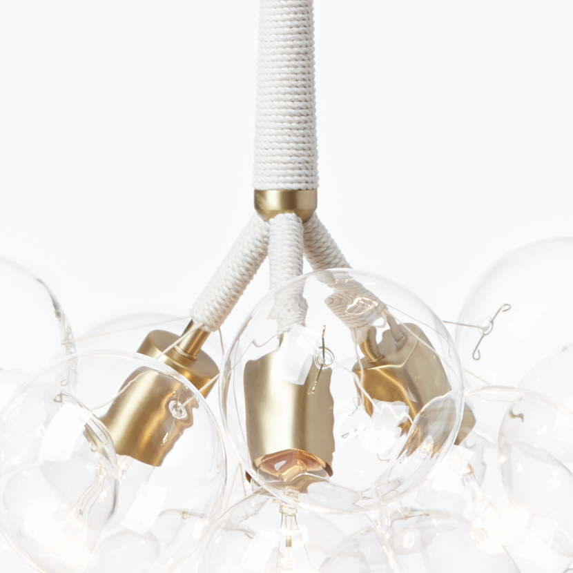 Pelle original bubble chandelier  detail