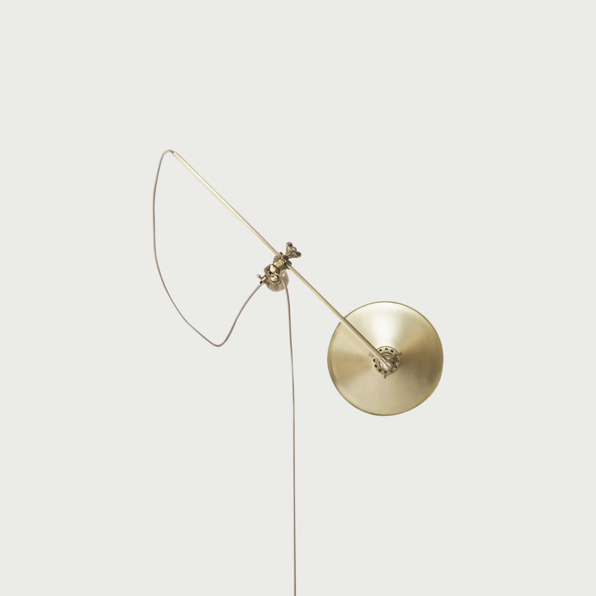 Brass wall lamp middle