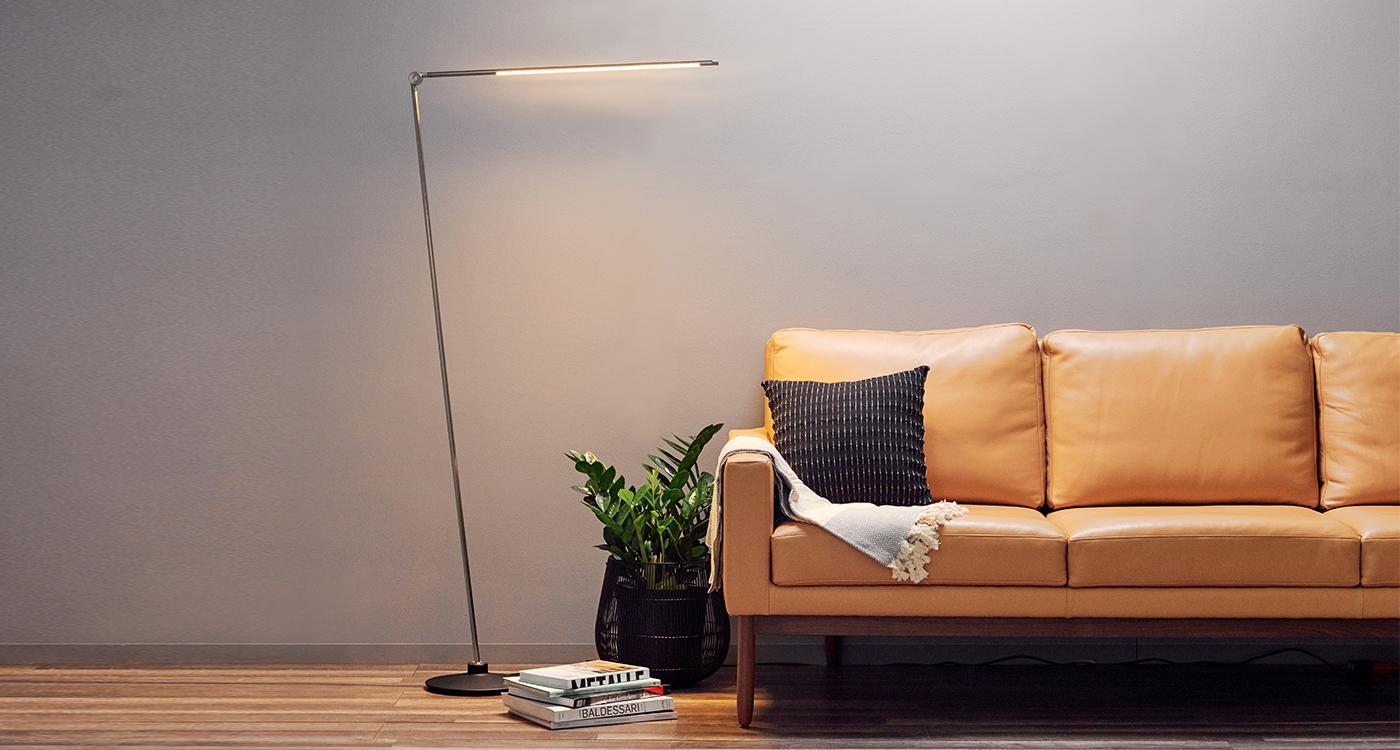 Thin floor lamp install