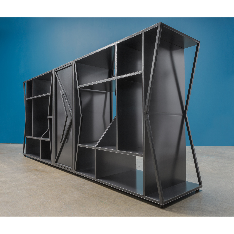 Meridian modular credenza horizontal side clean