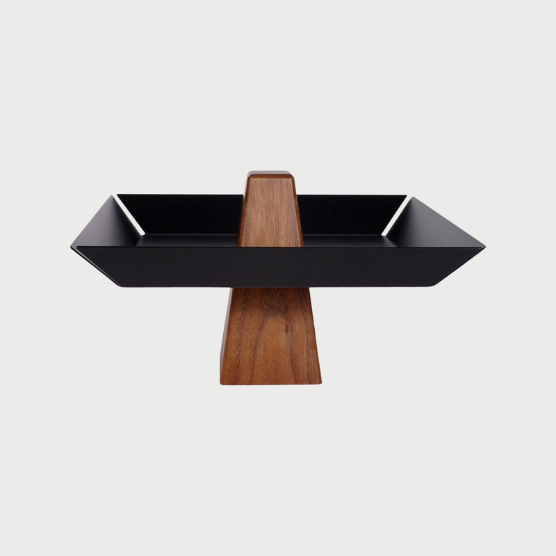 Ansel pedestal black