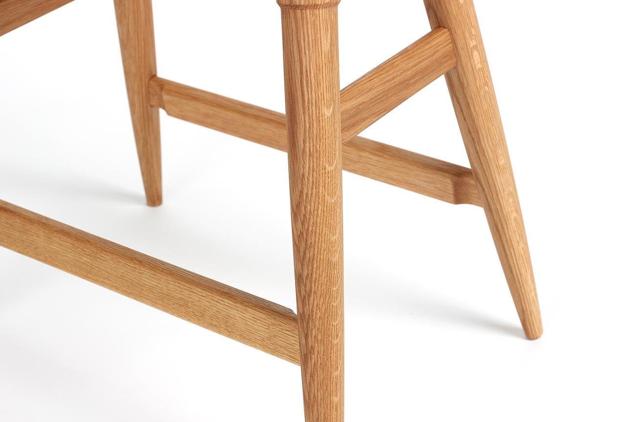 Rockport counter stool white oak footrest detail studio dunn