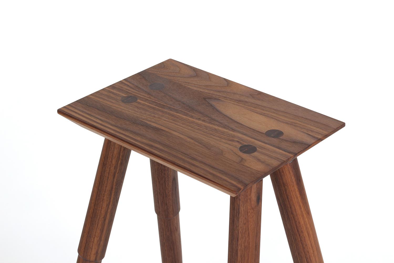 Rockport counter stool walnut stoolhead detail studio dunn